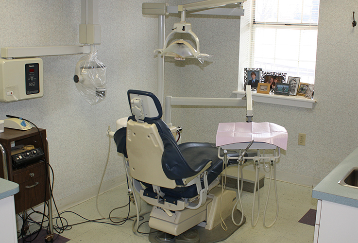 exam room with patient pictures