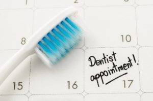 Appointment on calendar for cosmetic dental work